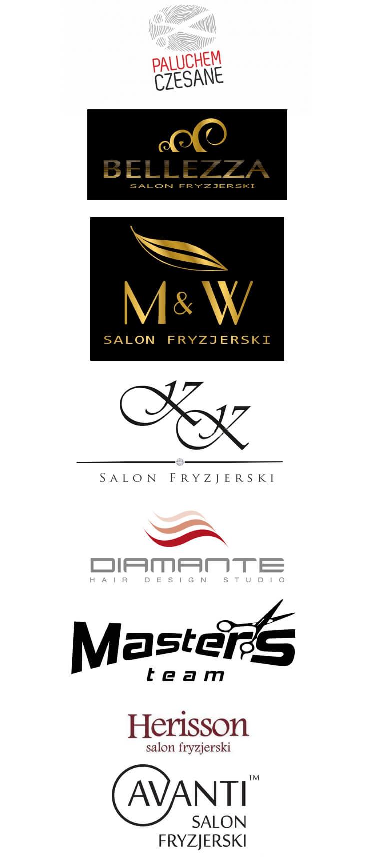 logo dla salonów fryzjerskich