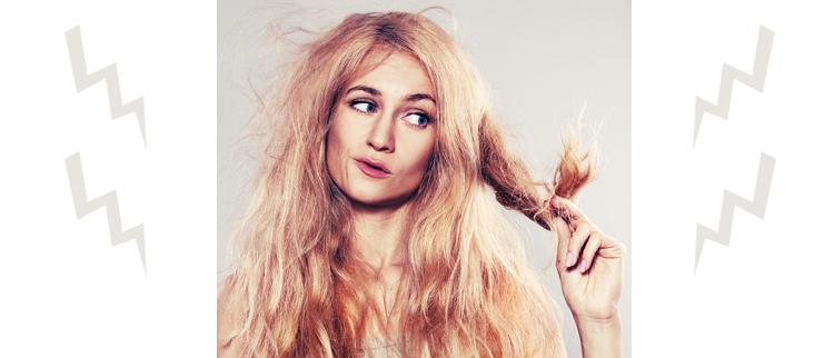 suche włosy